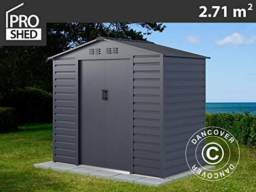 Dancover Caseta de Jardin 2, 13x1, 27x1, 90m ProShed®, Antracita: Amazon.es: Jardín