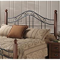 Hawthorne Collections Full Queen Spindle Headboard in Antique Black