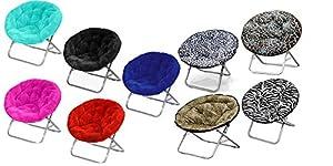 Amazon Com Large Faux Fur Folding Saucer Moon Chair