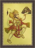 Painting Mantra Hanumanji Wood Photo Frame (26.67 cm x 7.62 cm x 35.56 cm, Black, FRMGD10619)