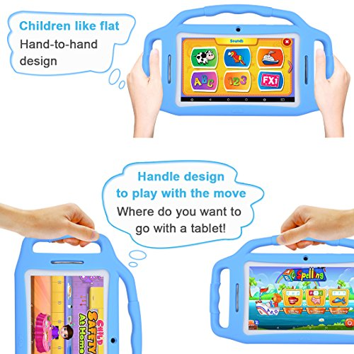 Kids Tablet Android 7.1, 7 Inch, HD Display, Quad Core, Children Tablet, 1GB RAM + 8GB ROM, with WiFi, Dual Camera, Bluetooth, Educational,Touch Screen Kid Mode,Parental Control … by BENEVE (Image #6)