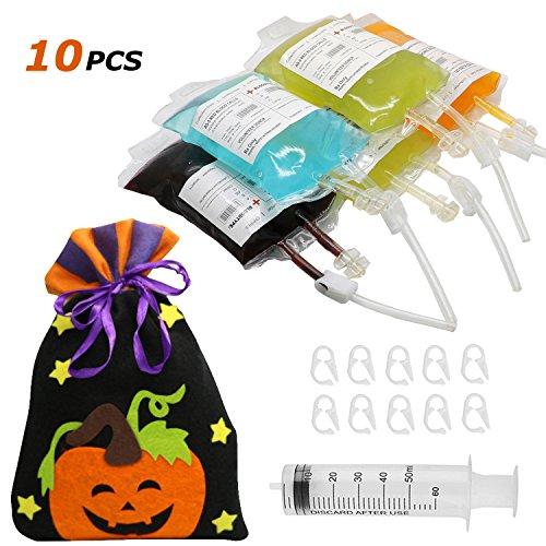Halloween Blood Bag - Yoderio 10 Pack Blood Bag...