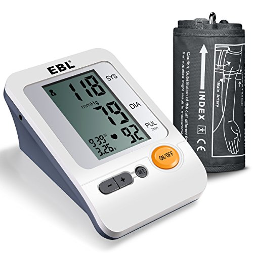 EBL Upper-Arm Blood Pressure Monitor with Large Cuff (11.8-16.5) - FDA Approved