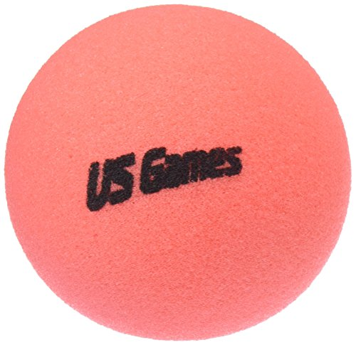 Us-Games Uncoated Economy Foam Ball, 6-Inch