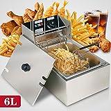 New MTN-G 6L Electric Deep Fryer Commercial Tabletop Restaurant Frying Basket Scoop 2500W