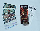Pirates of the Caribbean Disney Dollars 2007 Uncirculated (Set of 3) + 2011 (1) + 2007 At World's End Premiere Items Disneyland