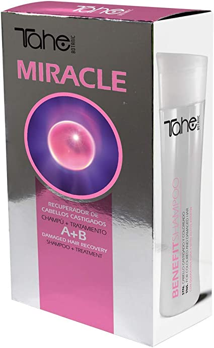Tahe Botanic Miracle Pack: Champú Benefit 300 ml + Tratamiento Miracle Treatment 50 ml con Queratina Activada y Células Madre Vegetales Activas: Amazon.es: Belleza