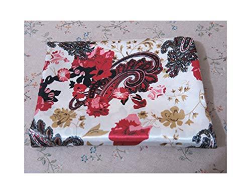 - Soft Polyester Charmeuse Material Elegant Floral Print Satin Fabric for Scarfs Dresses,Design 2