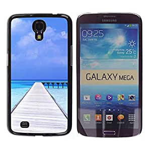 - Sunshine beach island - - Fashion Dream Catcher Design Hard Plastic Protective Case Cover FOR Samsung Galaxy Mega 6.3 Retro Candy
