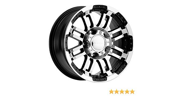0mm Black//Machined Wheel Rim 15 Inch Vision 375 Warrior Trailer 15x6 5x5