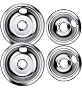 AMI PARTS 316048413 and 316048414 Range Burner Drip Pan Kit Replacement Includes 2 8-Inch and 2 6...