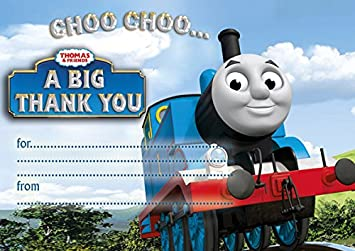 Abv Designs 10 X Thomas The Train Thank You Cards With Blue
