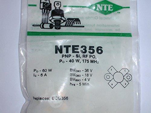 NTE356 Transistor PNP, Si, RF Power, Po - 40W, 175MHz (1 ()