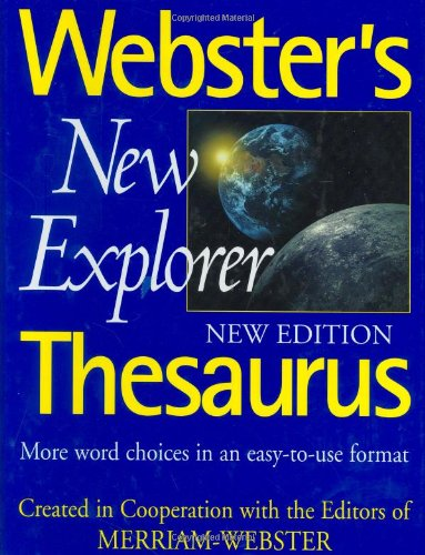 Webster's New Explorer Thesaurus - Websters New Explorer Dictionary Shopping Results