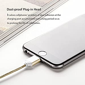 Netdot 2 Pack 2nd Generation Magnetic USB Charger Cable Adapter for iPhone 5, 5c, 5s, SE, 6, 6 Plus, 6s, 6s Plus, 7, 7 Plus (2 Pack gold)
