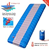 Overmont Sleeping Pad Inflatable Lightweight Waterproof Camping Tent Mattress Pad for Sleeping Comfortable Compact Air Mat for Backpacking Travel Hiking Built in Pump