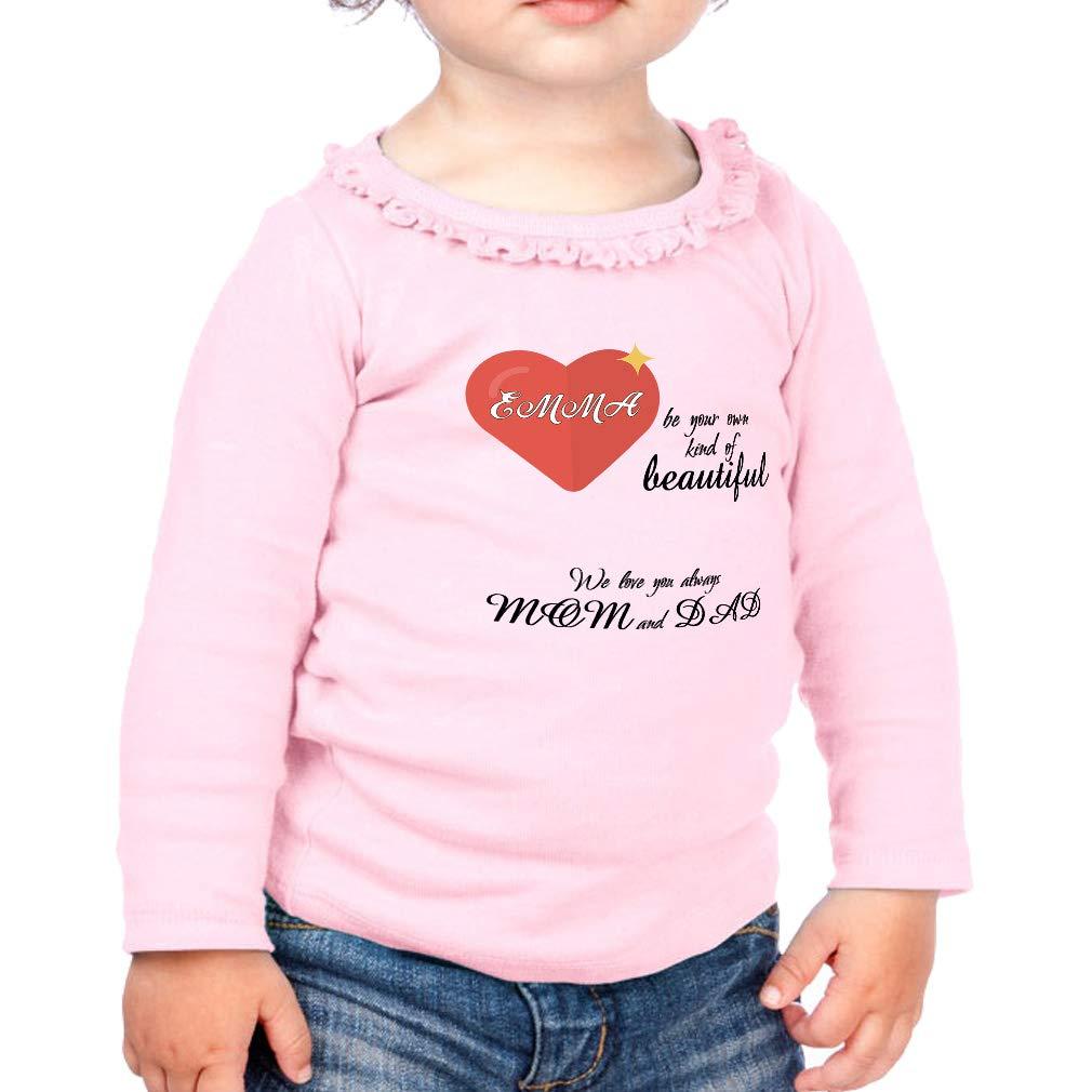 own Kind Beautiful Love Parents Cotton Toddler Long Sleeve Ruffle Shirt Top