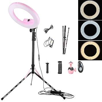 ZYT 14 Pulgadas LED Anillo De Luz Kit, 40W 5500K Regulable Luz del Anillo del
