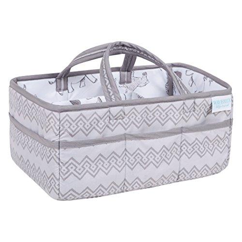 Waverly Congo by Trend Lab Line Diaper Caddy, Storage, Bin, Gray