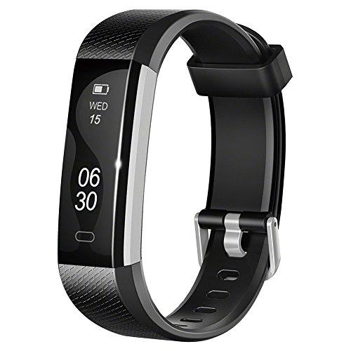 Tracker d'Activité, Lintelek Bluetooth Podomètre- Moniteur de sommeil - Calorie – Alarm - IP67 Montre Connectée Etanche pour Android et iPhone