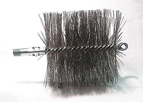 - Flue Brush, Dia 4 3/4, 1/4 MNPT, Length 8