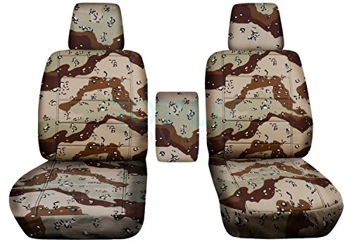 Totally Covers Fits 2004-2008 Ford F-150 Camo Truck Bucket Seat Covers with Center Armrest, w/wo Integrated Seat Belts: Desert Storm Camouflage (16 Prints) 2005 2006 2007 F-Series F150 Front