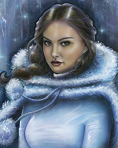 """Star Wars Limited Edition Gallery Wrapped Canvas 11"""" x 14"""" """"Snow Bunny Padmé"""" by Adrianna Vanderstelt"""