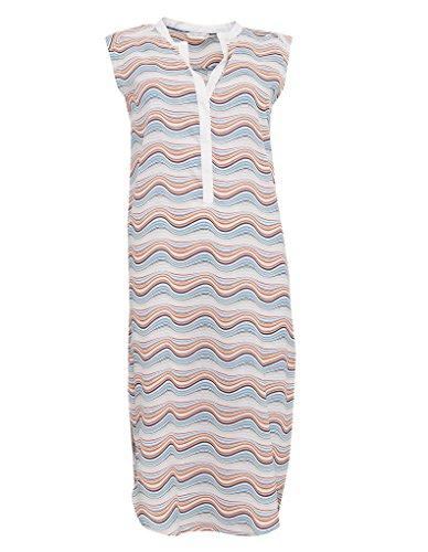 Cyberjammies 3261 Women's Bow Blue and Orange Spiral Print Modal Night Gown Loungewear Nightdress