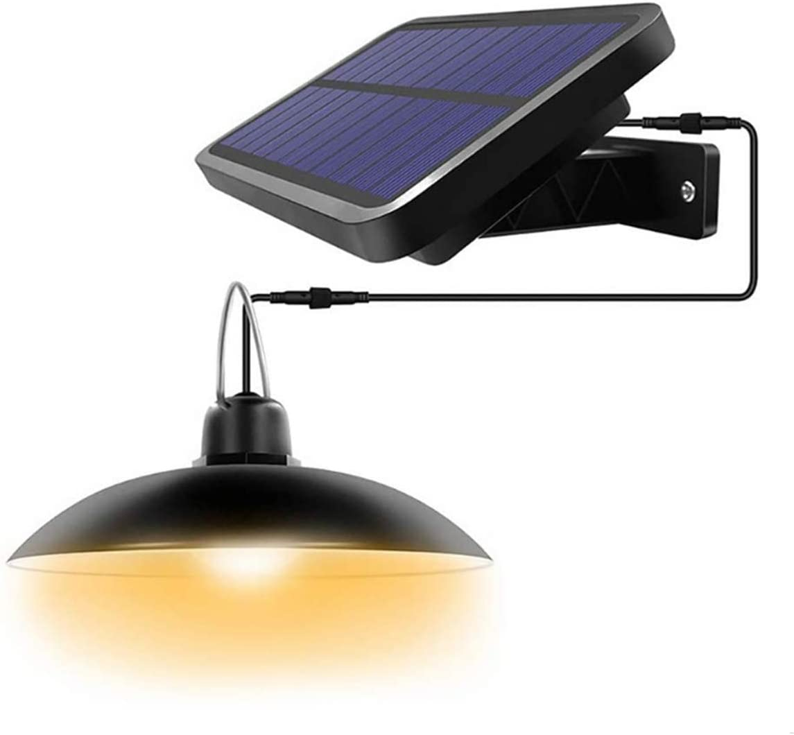 Solar Lights Outdoor Led-Powered Security,Pendant Light with IP65,Outdoor Lights with 180° Wide Adjustable Solar Panel for Garden Patio Porch Home Lighting,Warm White