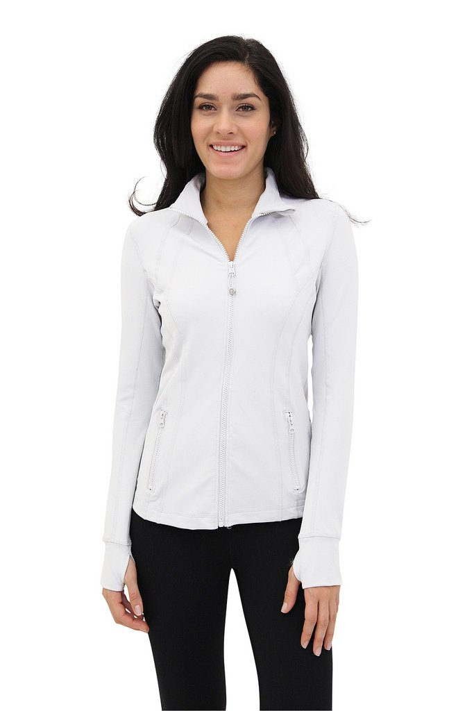90 Degree By Reflex - Womens Full Zip Jacket - White - Small
