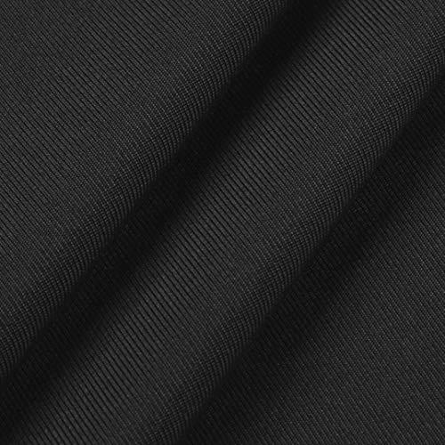 Faldas Largas Mujer Verano Hippies, Zolimx Vestidos Mujer Veranon Vestido de Vendimia Boho de Impresión Cuello Redondo Manga Larga Túnica T-Shirt Vestidos Negro