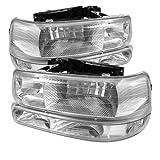 Spyder Auto HD-JH-CSIL99-SET-AM-C Headlight with LED Bumper Light