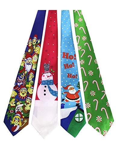 JEMYGINS Original 4PCS One-off Christmas Tie Mens and boys Necktie for Festival (7)