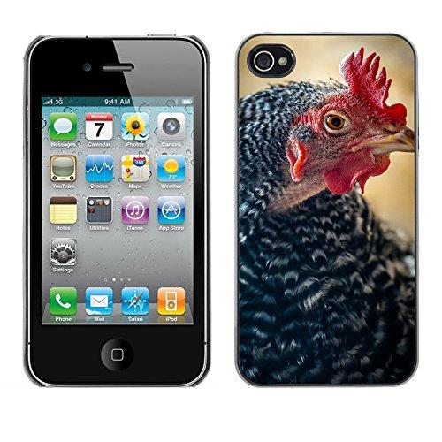 Premio Sottile Slim Cassa Custodia Case Cover Shell // F00017907 poulet // Apple iPhone 4 4S 4G