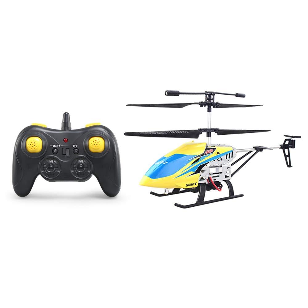 GG-Drone Avión de Control Remoto, helicóptero de Carga, Resistente a niños, Modelo de Vuelo, avión, avión no tripulado, Juguete, pequeño helicóptero Amarillo