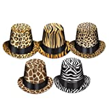 Beistle 25 Animal Print Hi-Hats, Multicolored