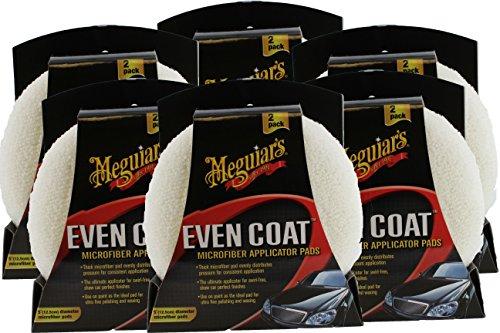 Meguiar's X3080 2 Count Even Coat Applicator (6 Pack)