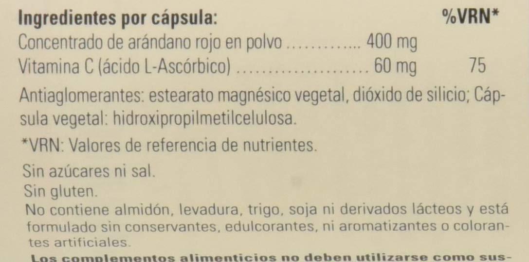 Solgar Arándano Rojo con Vitamina C Cápsulas vegetales - Envase de 60: Amazon.es: Salud y cuidado personal