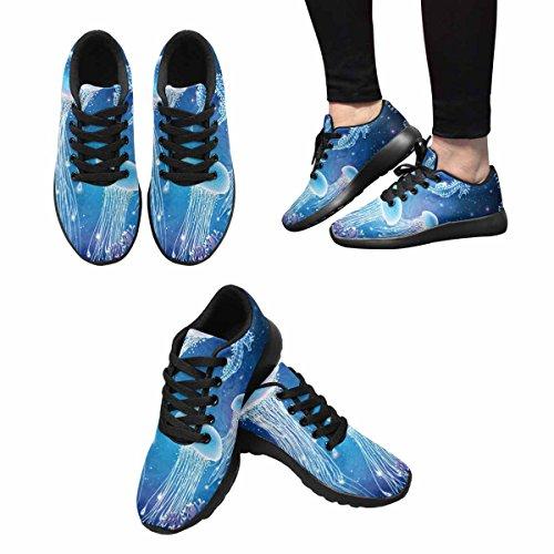 Scarpe Da Corsa Trail Running Da Donna Jogging Leggero Sportivo A Piedi Scarpe Da Ginnastica Atletiche Magiche Incandescente Medusa Subacquea, Mondo Sottomarino Multi 1