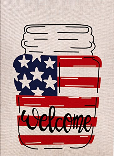 Dyrenson Home Decorative Outdoor 4th of July Double Sided Ma