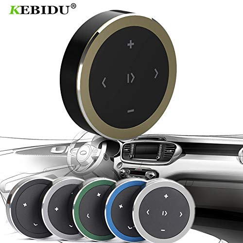 Calvas Wireless Bluetooth Media Steering Wheel Remote Control for Android IOS Smartphone Control Car Kit Styling mp3 Music Play - (Color: ()