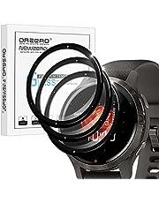 NEWZEROL 3 stuks compatibel met Garmin Venu 2S beschermfolie, 3D koolstofvezelrand, displaybeschermfolie, volledige afdekking, premium flexibel glas, anti-kras, luchtbelvrije beschermfolie
