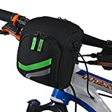RockBros Mountain Bike Handlebar Bag Road Bicycle Multi-Purpose Basket Bag With Crossbody Belt