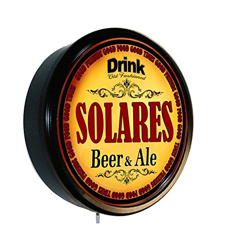 SOLARES Beer and Ale Cerveza Lighted Wall Sign by Goldenoldiesclocks