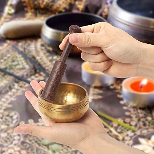 DomeStar Singing Bowl Mallet, 5 x 0.75 Inch Sound Bowl Stick Tibetan Singing Bowl Striker