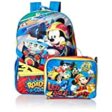 Disney Boys' Mickey Backpack with Lunch, Blue