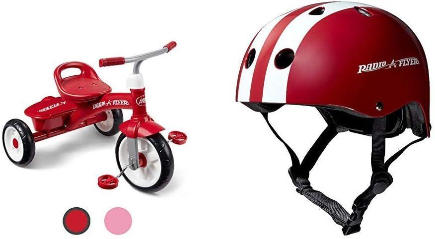 Radio Flyer Red Rider Trike (Amazon Exclusive) & Helmet