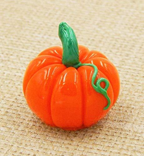 (Pumpkin Art Glass Chocolate Halloween Handmade Gift Seasonal Gourd Table Décor Fall Autumn)