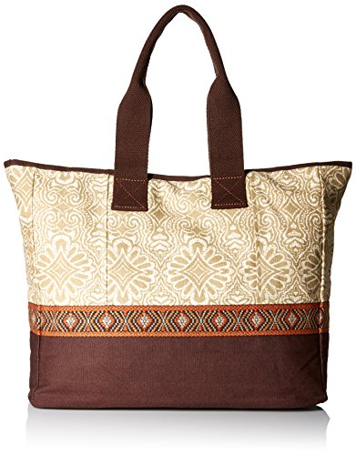 Embroidered Boot Bag - prAna Women's Jazmina Tote Bag, Stone, One Size