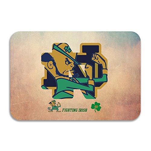 PTGIK NCAA Notre Dame Fighting Irish 2015 Shamrock Series Performance Non-slip Doormat White